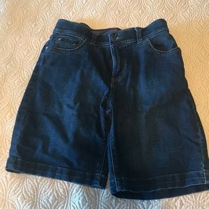 LE denim Bermuda shorts